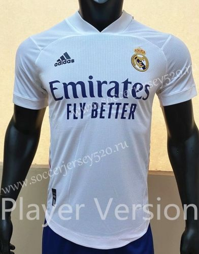 Player Version 2020 2021 Real Madrid Home White Thailand Soccer Jersey Aaa Fl In 2020 Soccer Jersey Real Madrid Real Madrid Football Club