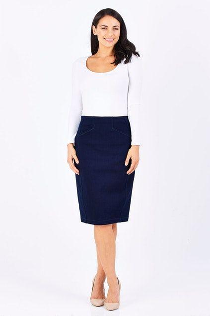 Sacha Drake Denim Skirt - Womens Knee Length Skirts - Birdsnest Online Store 40ad3bd5c