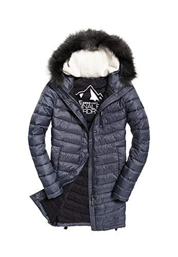 best website 56f4b 3f676 Superdry Jacke Damen Chevron Faux FUR SUPER Fuji Charcoal ...
