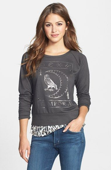 Lucky Brand Studded Owl Pullover available at #Nordstrom