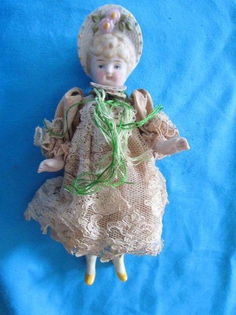 doll parts Bonnet Baby antique german dolls Bonnet Doll Doll repair Bonnet Girl dollhouse doll antique porcelain doll 2.83 Limbach