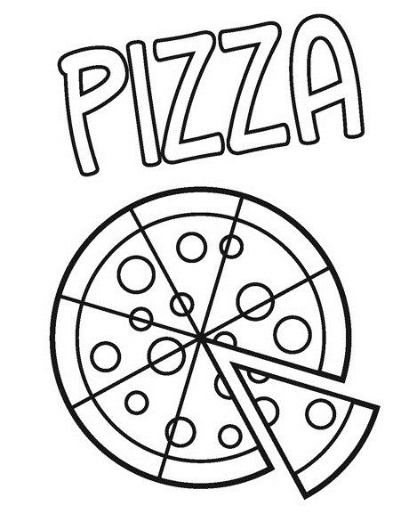 Pizza Coloring Pages For Small Children Coloring Pages In 2020 Pizza Coloring Page Food Coloring Pages Preschool Coloring Pages