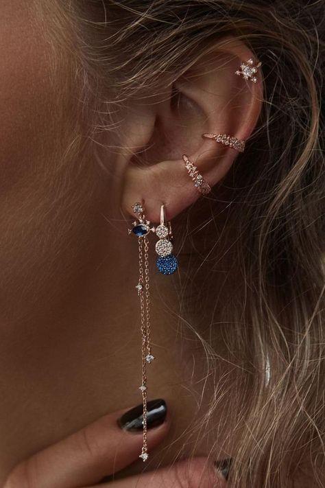 Ear Jewelry, Cute Jewelry, Boho Jewelry, Wedding Jewelry, Jewelry Accessories, Wedding Rings, Jewelry Ideas, Silver Jewelry, Bohemian Accessories