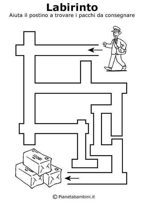 Labirinti Da Stampare Per Bambini Di 5 Anni Circa Pregrafismo E