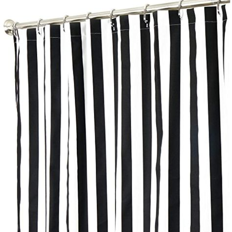 Extra Long Shower Curtain Fabric Curtains Black And White Striped 84 Inch Be Sure To Check Out This Awesome Product