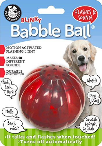 Pet Qwerks Blinky Babble Interactive Dog Toy Flashes Talks When