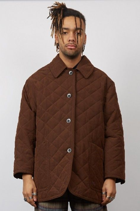 Vintage 90 S Burberry Brown Quilted Jacket