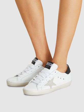 Golden Goose Deluxe Brand Superstar Low Top Trainers I Adore This One Because It Is So Clean In Black Whit Luxury Sneakers Golden Goose Shoes Luxury Shoes