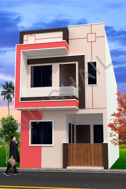 15x50 House Plan With 3d Elevation Option B By Nikshail Simple House Design Small House Elevation Design House Plan Gallery