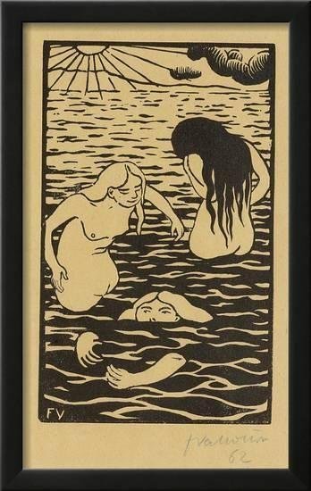 Three Bathers Paper Print