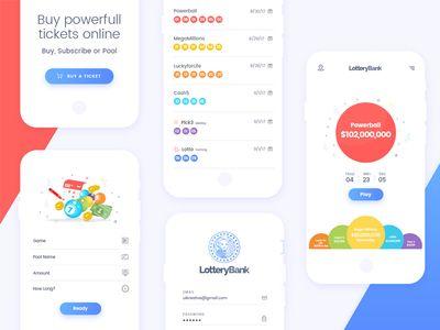Lottery-Bank: Mobile app design | UX/UI | Mobile app design