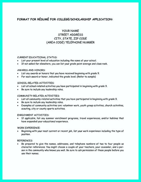 college application resume how write simple steps sample letter - college app resume