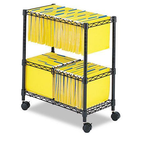 Zimtown 2 Tiers Layer Metal Rolling Mobile File Cart Office Supplies W Wheels Black Walmart Com File Carts Safco Office Furniture Accessories