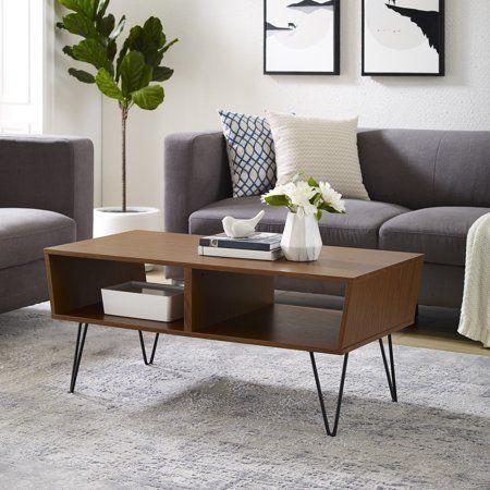 Manor Park Mid Century Modern Wood Coffee Table Acorn Walmart