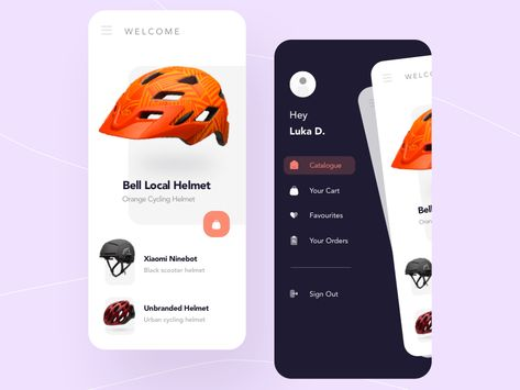 Helmets App Shop Concept Sketch Freebie