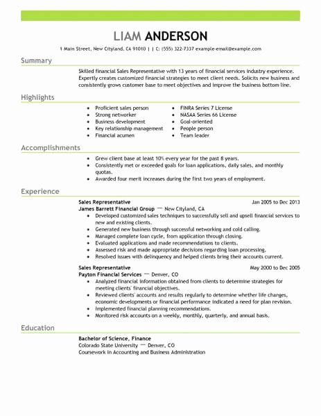 Sales Representative Resume Description Unique Best Sales Representative Resume Example In 2020 Sales Resume Resume Examples Sales Resume Examples