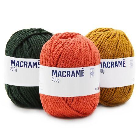 Compre Aqui Online Linha Macrame Pingouin 200g Especialmente Desenvolvida Para O Artesanato Em Macrame Otimo Preco Macrame Linha De Croche Artesanato Croche