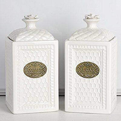 Amazon Com Kitchen Canisters Set Vintage Coffee Sugar Jars
