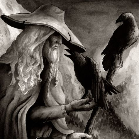 "In Norse mythology, Huginn (from Old Norse ""thought"" and Muninn (Old Norse ""memory"" or ""mind"" are a pair of ravens that fly all over the world, Midgard, and bring information to the god Odin.  In the Poetic Edda, a disguised Odin expresses that he fears that they may not return from their daily flights. The Prose Edda explains that Odin is referred to as ""raven-god"" due to his association with Huginn and Muninn."