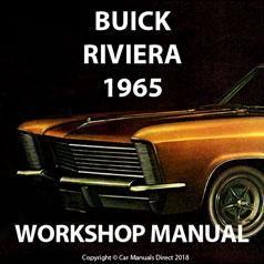 Buick Riviera 1965 Shop Manual Buick Riviera Buick Manual Car