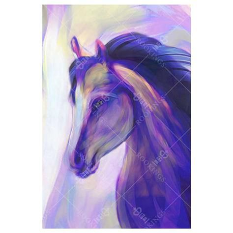 Elegant Blue Horse - Digital Print / Paper / Medium(18''x27'') + Roll Only