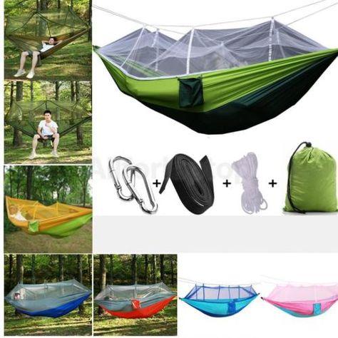 Details Zu Mit Moskitonetz Camping Reise Garten Hangematte Hammock
