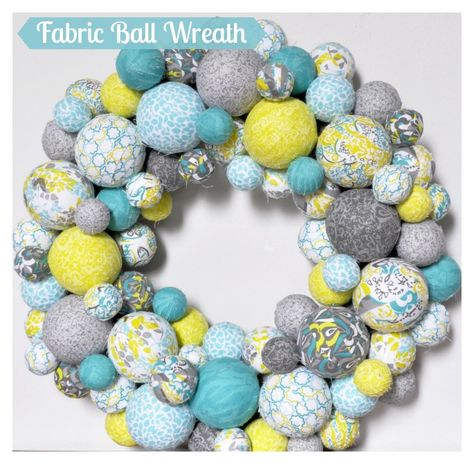 A colorful and fabulous Fabric Ball Spring Wreath! I am so excited about this craft turned out and hope you will be DIY inspired for your home decor!