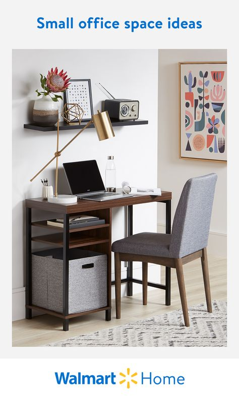 Discover Walmart's high-quality desks, office chairs, small filing cabinets, and more to maximize your small space—for less. #WalmartHome