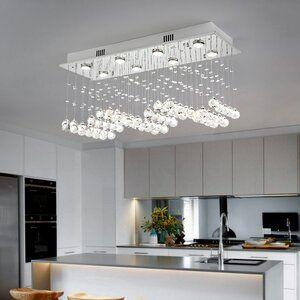 House Of Hampton Flanders 5 Light Unique Chandelier With Crystal Accents Wayfair In 2021 Unique Chandeliers Geometric Chandelier Rectangle Chandelier