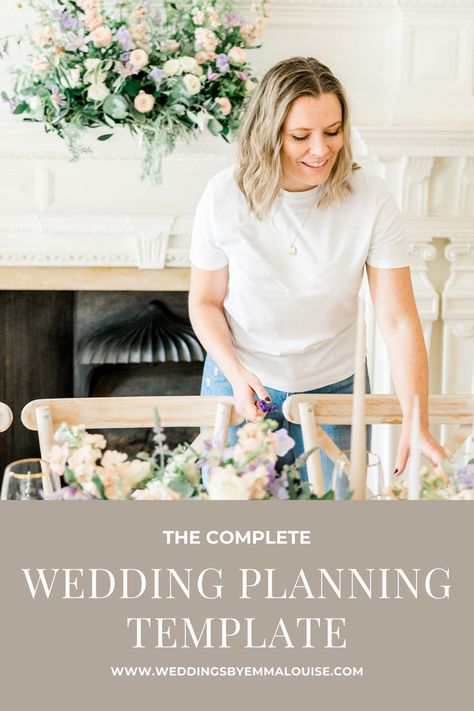 A complete wedding planning template used by me for professionally planning weddings. Including guest and supplier management tabs with a budget tracker. Image styled WeddingsbyEmmaLouise and taken by Kelsie Scully Photography #weddingplanning #weddingplanner #weddingplanningtemplate #weddingbudget #budgettracker