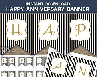 photo regarding Happy Anniversary Banner Free Printable titled Picture outcome for pleased wedding ceremony anniversary banner free of charge