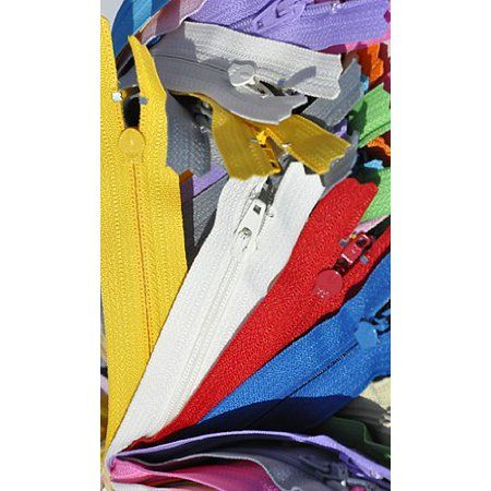 9 12 Inch White 100 Zippers YKK number 3 Nylon Coil Skirt and Dress  Color 501 Closed End