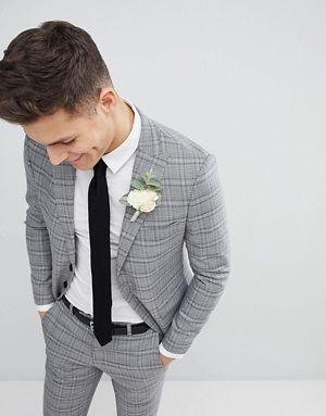 carreaux slim Veste Moss de à London de mariage costume htQxsdCr