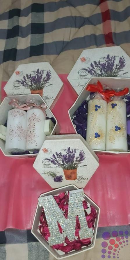 هدية بمناسبة عيد الزواج في دبي Dubai Uae Art Design Gift Wrapping Design