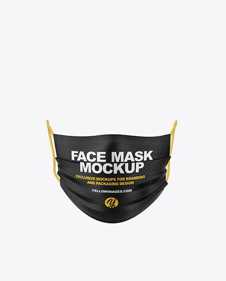 Download Disposable Face Mask Mockup Face Mask Mockup In Apparel Mockups On Yellow Images Object Mockups Clothing Mockup Face Mask Mask