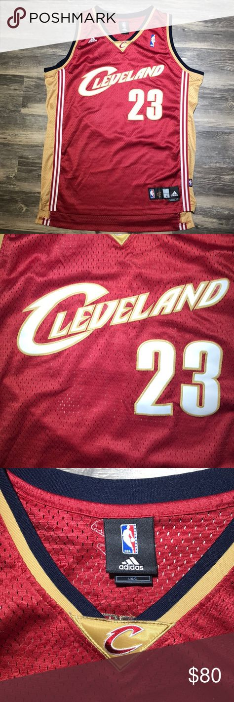 "d50f69f214a Adidas NBA Cleveland Cavaliers LeBron James Jersey Pit to pit  25"" Length   34"