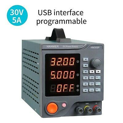 Programmable Dc Power Supply 0 30 V 0 10 A Variable Linear Regulated Power In 2020 Power Supply Function Generator Power