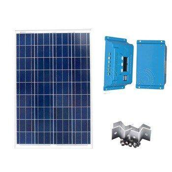 Solar Panel Kit 12v 100w Solar Charge Controller 12v24v 10a Lcd Pwm Solar Battery Charger Yachting Marine Boat Camp Carav Solar Panels Solar Power Panels Solar