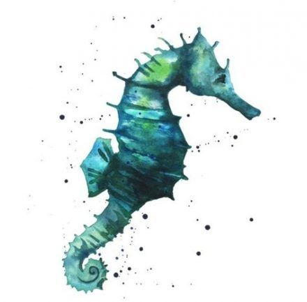 64 Ideas For Tattoo Watercolor Ocean Seahorse Painting #painting #tattoo