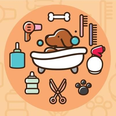 Free Vector Dog Having A Bath Download Free Vector Art Stock