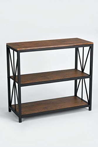 Best Seller Dark Coffee Black Metal Frame 3 Tier Console Table Bookcase Bookshelf Online With Images Living Room Console Metal Console Table Bookshelves In Living Room