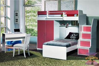 غرف نوم اولاد سراير بدورين شبابية حقا تاخذ العقل Loft Bed Home Decor Home