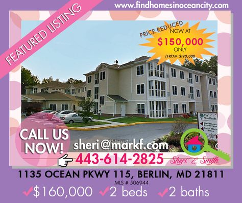 PRICE REDUCED: From $190,000 to $150,000 1135 Ocean Pkwy 115 Berlin,