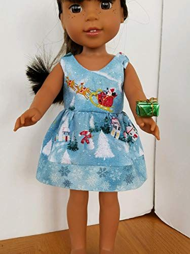 """Doll Clothes 14.5/"""" Shoes Teal Sequin Fits 14.5/"""" AG Wellie Wishers Doll"""