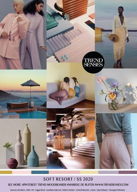 Summer Fashion 2018 : MOODBOARD - SOFT RESORT - SPRING /SUMMER 2020 #Trends   FashioViral.net - Leading Lifesyle & Fashion Magazine