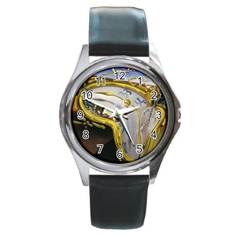 Salvador Dali Round Metal Watch Wristwatchart Watchesarts Watchart Gifts