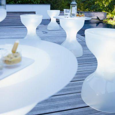 Salon De Jardin Solaire Led Blanc En 2020 Agrement De Jardin