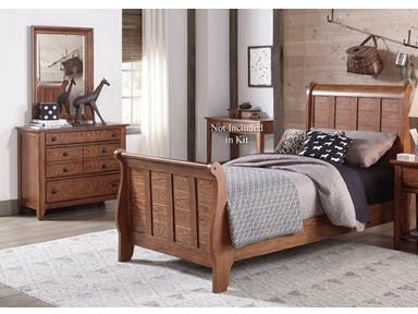 I Really Love The Look Of This Sleigh Style Bed The Wood The Bed Is Made Out Of Matched The Wood Of The Dresser And Mi Liberty Furniture Furniture Bedroom Set