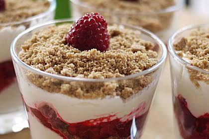dessert mit spekulatius