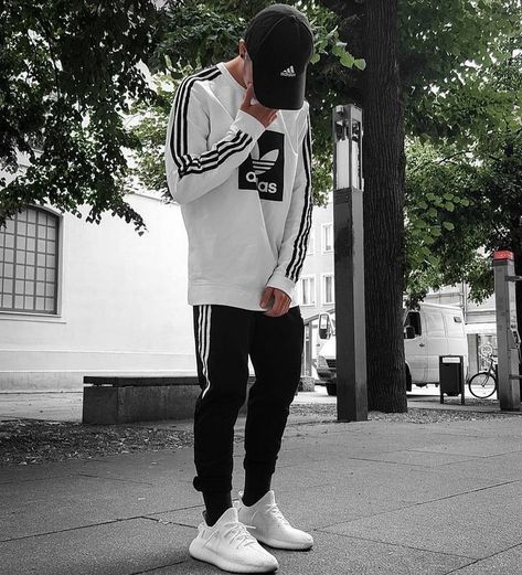Rate his outfit look 1-10? #adidas ''Follow @luxurystreetfits for more.''